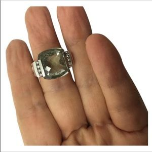 David Yurman Diamond Prasiolite ring